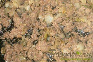 Лепёшки с мясом и моцареллой Шаг 4 (картинка)