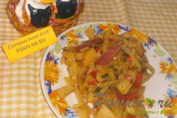 Рагу из картофеля и капусты Изображение