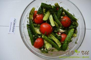 Малосольные огурцы, помидоры и цукини Шаг 8 (картинка)