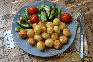 Малосольные огурцы, помидоры и цукини Шаг 10 (картинка)