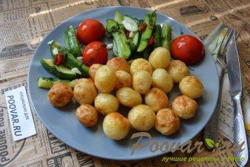 Молодая картошка жареная на сковороде целиком Шаг 9 (картинка)