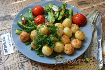 Молодая картошка жареная на сковороде целиком Шаг 10 (картинка)
