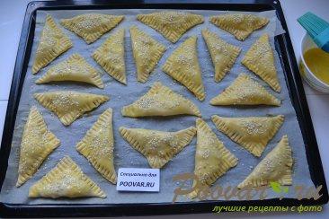Пирожки из слоеного теста в духовке Шаг 13 (картинка)