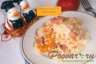 Рисовая каша с колбасой Изображение