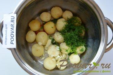 Молодой картофель со сметаной Шаг 5 (картинка)