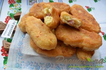 Пирожки с картошкой и сосисками Шаг 9 (картинка)