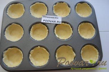 Корзиночки из слоеного теста с картофелем и сосисками Шаг 6 (картинка)