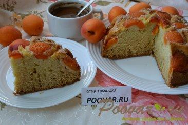 Быстрый пирог на кефире с абрикосами Изображение