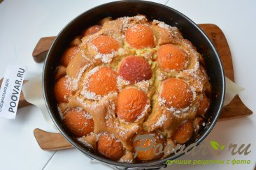 Быстрый пирог на кефире с абрикосами Шаг 10 (картинка)