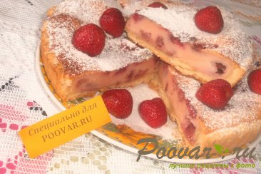 Пирог с клубникой в сметанной заливке Шаг 16 (картинка)