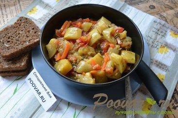 Тушеные кабачки с овощами Изображение