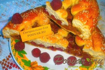 Пирог с малиной и сгущёнкой Шаг 13 (картинка)
