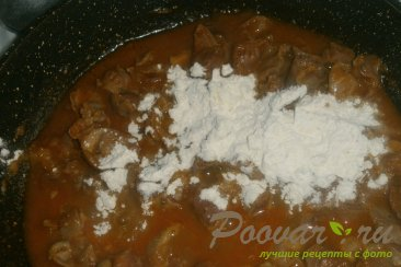 Куриные желудки с луком и томатом Шаг 9 (картинка)