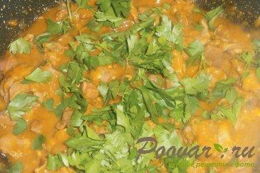 Куриные желудки с луком и томатом Шаг 10 (картинка)