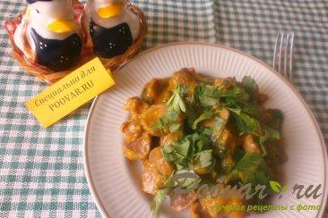 Куриные желудки с луком и томатом Шаг 12 (картинка)