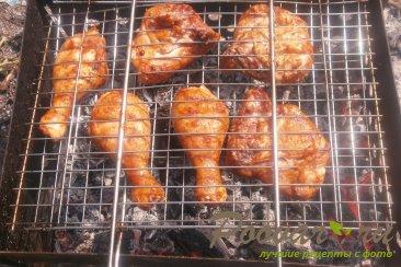 Курица с кетчупом на мангале Шаг 8 (картинка)