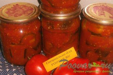 Баклажаны в томатном соке Изображение