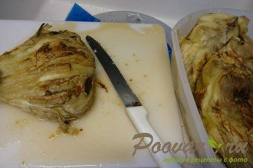 Запеченные баклажаны с грецкими орехами и чесноком Шаг 6 (картинка)