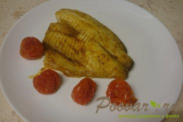 Рыба запеченная в духовке с помидорами Изображение