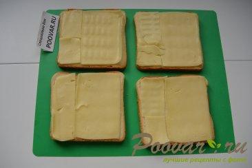 Горячие бутерброды с сыром и колбасой Шаг 2 (картинка)