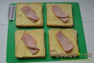 Горячие бутерброды с сыром и колбасой Шаг 3 (картинка)