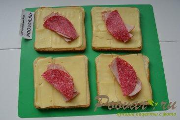 Горячие бутерброды с сыром и колбасой Шаг 4 (картинка)