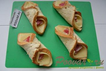 Горячие бутерброды с сыром и колбасой Шаг 5 (картинка)