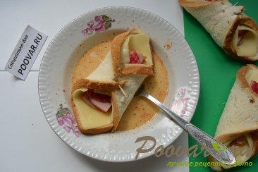 Горячие бутерброды с сыром и колбасой Шаг 7 (картинка)