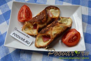 Горячие бутерброды с сыром и колбасой Шаг 9 (картинка)