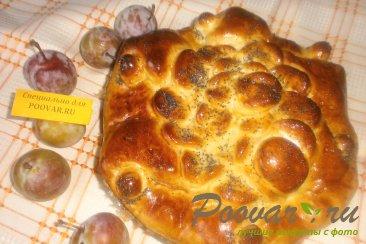 Пирог со сливой, орехами и изюмом Шаг 16 (картинка)