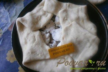 Пирог со сливой, орехами и изюмом Шаг 12 (картинка)
