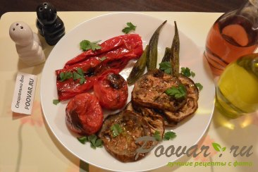 Бамия с овощами запеченная в духовке Шаг 6 (картинка)
