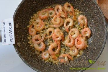 Креветки в сливочно-чесночном соусе с пастой Шаг 4 (картинка)