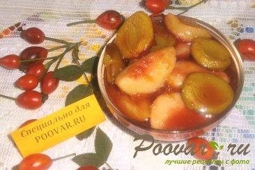 Варенье из слив с персиками Изображение