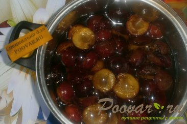Варенье из слив с персиками Шаг 2 (картинка)