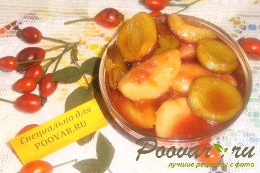 Варенье из слив с персиками Шаг 6 (картинка)