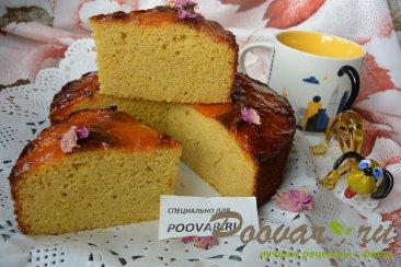 Пирог с миндальной и кукурузной муки с курагой Изображение