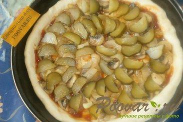 Пицца с луком и маринованными огурцами Шаг 12 (картинка)