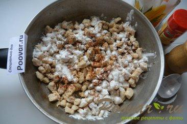 Жульен с курицей грибами и сливками Шаг 6 (картинка)