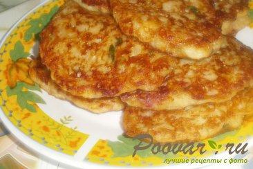 Картофельные драники с ветчиной и сыром Шаг 11 (картинка)