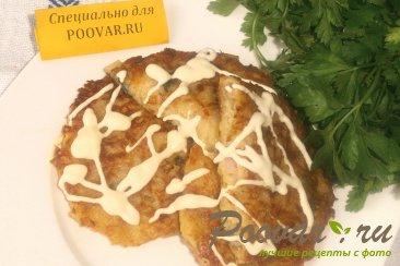 Картофельные драники с ветчиной и сыром Шаг 12 (картинка)