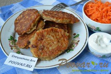 Овсяные оладьи на кефире с сыром и колбасой Изображение