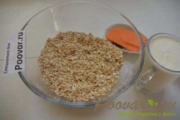 Овсяные оладьи на кефире с сыром и колбасой Шаг 1 (картинка)