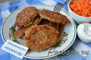 Овсяные оладьи на кефире с сыром и колбасой Шаг 9 (картинка)