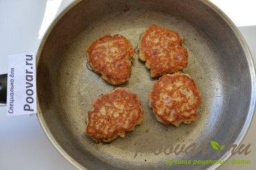 Овсяные оладьи на кефире с сыром и колбасой Шаг 8 (картинка)