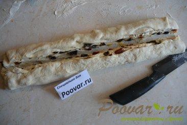 Хлеб-багет с вялеными помидорами и маслинами Шаг 7 (картинка)