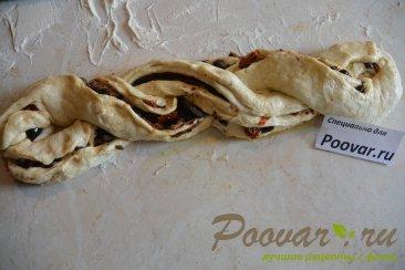 Хлеб-багет с вялеными помидорами и маслинами Шаг 8 (картинка)