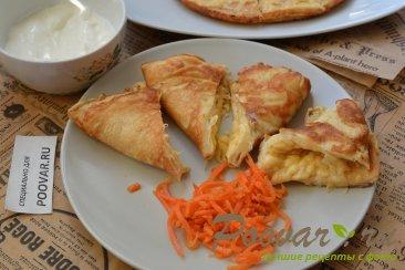 Быстрый завтрак из омлета и сыра за 5 минут Шаг 9 (картинка)