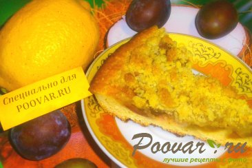 Пирог с ореховым штрейзелем Изображение