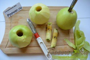 Яблочные колечки в слоеном тесте Шаг 1 (картинка)